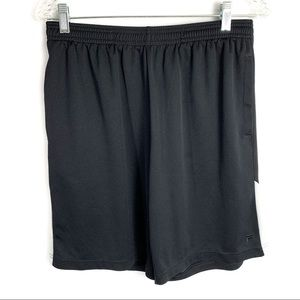 Film sport black athletic shorts with pockets